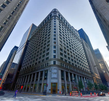 burnham: Chicago - September 6, 2015: The Burnham Center, originally known as the Conway Building and later as the Chicago Title & Trust Building, is a historic skyscraper in Chicago, Illinois.