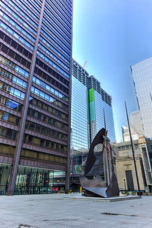 picasso: Chicago - September 6, 2015:  Untitled massive sculpture in a plaza in downtown Chicago by Picasso.