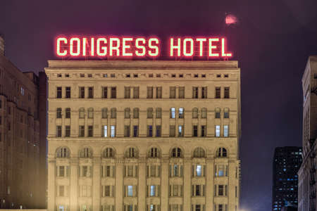 michigan avenue: Chicago - September 6, 2015: The Congress Plaza Hotel, located on South Michigan Avenue across from Grant Park in Chicago at 520 South Michigan Avenue.
