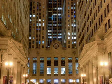 Chicago september 6 2015 chicago board of trade building at night in chicago