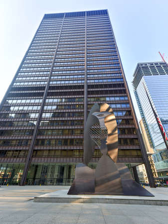 pablo picasso: Chicago - September 6, 2015:  Untitled massive sculpture in a plaza in downtown Chicago by Picasso.