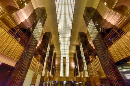 Chicago - 7. September 2015: Chicago Board of Trade Lobby in Chicago, Illinois. Das Art-Deco-Gebäude wurde 1930 erbaut und zunächst eine Chicago Landmark am 4. Mai., 1977 Standard-Bild - 48264269
