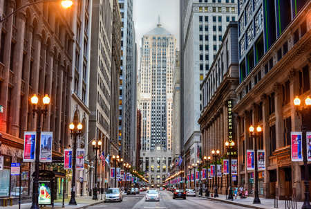 Chicago - 7. September 2015: Chicago Board of Trade Gebäude entlang Straße La Salle in Chicago, Illinois. Das Art-Deco-Gebäude wurde 1930 erbaut und zunächst eine Chicago Landmark am 4. Mai., 1977 Standard-Bild - 48264266