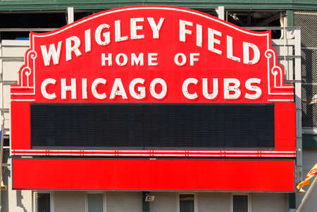 cousin: Chicago - June 11, 2007: The Wrigley Field Baseball Stadium is Home of the Chicago Cubs since 1916. It can sit 41019.