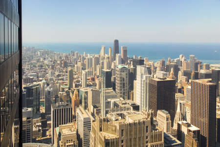 Panoramic view of the Chicago skyline.