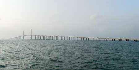tampa bay: Sunshine Skyway Bridge in Tampa Bay, Florida.