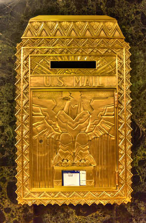 Chicago - September 7, 2015: Mailbox of One North LaSalle Building in the loop district.