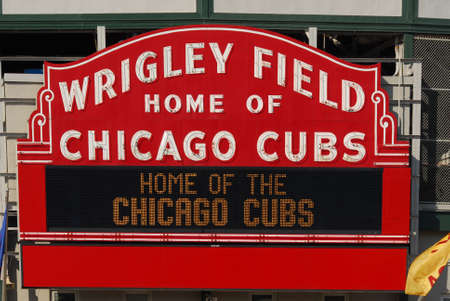 chicago city: Chicago - June 11, 2007: The Wrigley Field Baseball Stadium is Home of the Chicago Cubs since 1916. It can sit 41019.