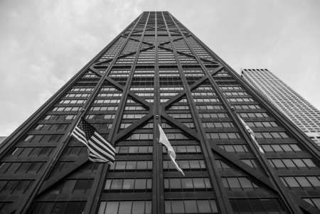 john hancock: John Hancock Building in Chicago, Illinois.
