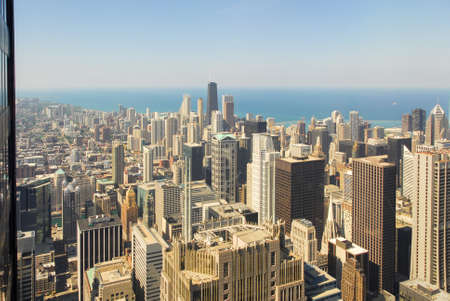 commercial real estate: Panoramic view of the Chicago skyline.