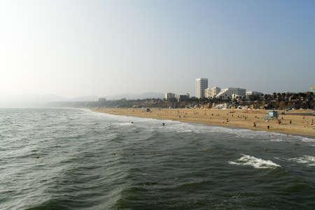 monica: Santa Monica Beach in Los Angeles, California, USA.