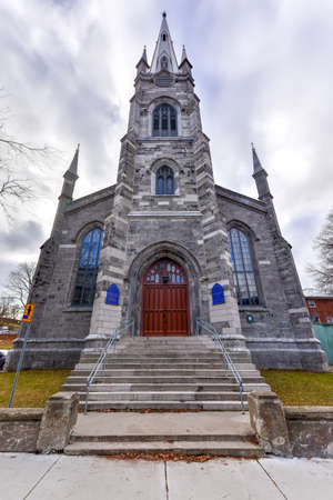 gothic revival: Chalmers-Wesley United Church is a gothic revival church located within the walls of Old Quebec City, Canada.