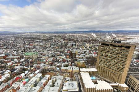 quebec: Panoramic view of the Quebec City Skyline.