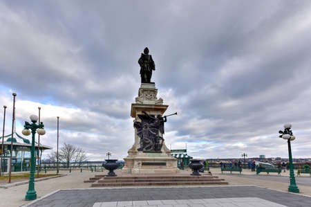 samuel: Samuel de Champlain Statue born Samuel Champlain The Father of New France was a French navigator, cartographer, draughtsman, soldier, explorer, diplomat and chronicler. He founded Quebec City.