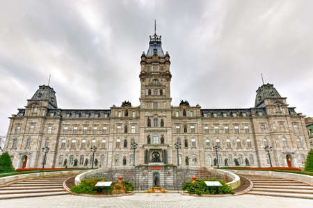 Quebec Parliament Building, a Second Empire architectural style building in Quebec City, Canada. Editorial