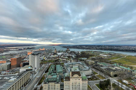 lawrence: Panoramic view of the Quebec City Skyline.