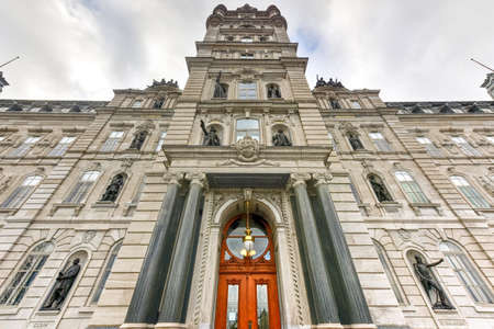 Quebec Parliament Building, a Second Empire architectural style building in Quebec City, Canada. Stock Photo