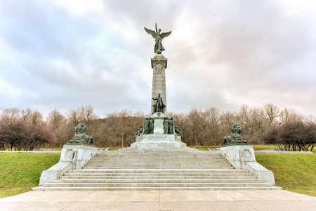 royal: Sir George Etienne Cartier Monument in Mount Royal Park, Montreal, Canada to George-Etienne Cartier by sculptor George William Hill. Editorial