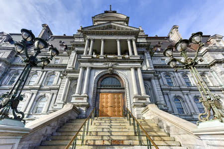 talker: Main Building of the City Hall in Old Montreal, Canada.