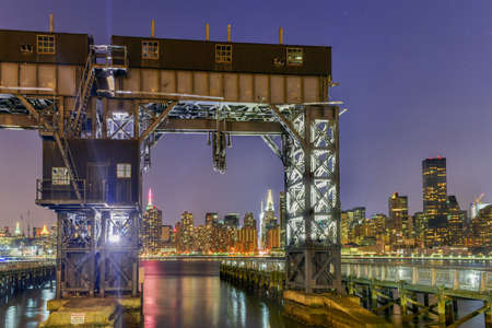 gantry: Pier of Long Island near Gantry Plaza State Park - borough of Queens - New York City.
