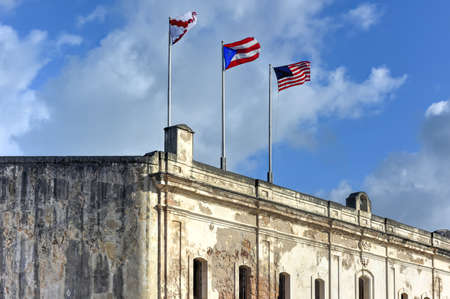 viejo: Castillo de San Cristobal in San Juan, Puerto Rico. It is designated as a UNESCO World Heritage Site since 1983. It was built by Spain to protect against land based attacks on the city of San Juan.