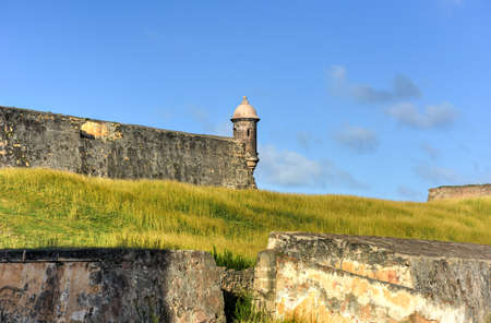 Castillo de San Cristobal in San Juan, Puerto Rico. It is designated as a UNESCO World Heritage Site since 1983. It was built by Spain to protect against land based attacks on the city of San Juan.