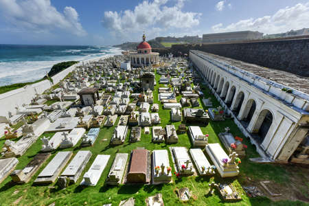 viejo: Santa Maria Magdalena de Pazzis colonial era cemetery located in Old San Juan, Puerto Rico.