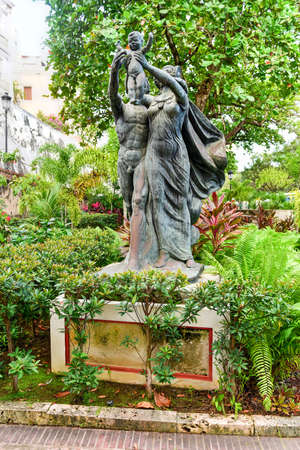 the americas: Statues of the Plaza of the Heritage of the Americas  in San Juan, Puerto Rico.