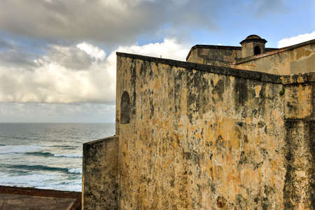 Castillo de San Cristobal in San Juan, Puerto Rico.  . It was built by Spain to protect against land based attacks on the city of San Juan. Editorial