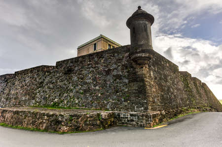 City Walls and lookout of San Juan, Puerto Rico. 新聞圖片