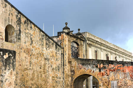 cristobal: Castillo de San Cristobal in San Juan, Puerto Rico.  . It was built by Spain to protect against land based attacks on the city of San Juan. Editorial