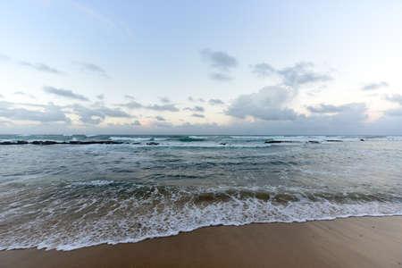 pena: Playa Pena (Pena Beach) in San Juan, Puerto Rico at sunset.