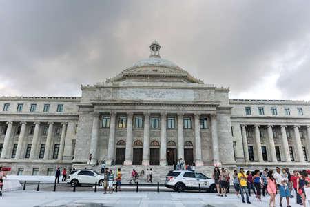 capitolio: San Juan, Puerto Rico - December 25, 2015: Puerto Rico Capitol (Capitolio de Puerto Rico) in San Juan, Puerto Rico.