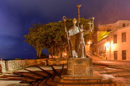 Plaza de la Rogativa, Old San Juan, Puerto Rico. La Rogativa means The Procession, which tells the legend about a Catholic Bishop and his companions.