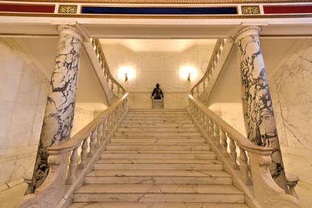 rico: San Juan, Puerto Rico - December 25, 2015: Puerto Rico Capitol (Capitolio de Puerto Rico) interior in San Juan, Puerto Rico. Editorial