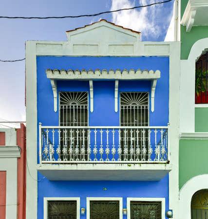 san juan: Classical colonial style architecture of San Juan, Puerto Rico.