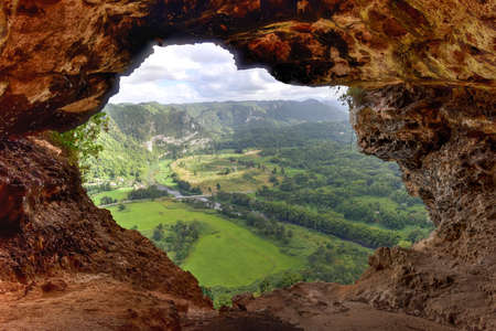 view through: View through the Window Cave in Arecibo, Puerto Rico.
