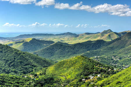 Landscape view of Salinas in Puerto Rico.
