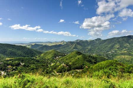 Landscape view of Salinas in Puerto Rico.