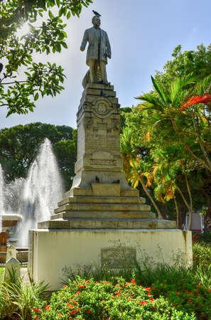 Juan Morel Campos Statue in Plaza Las Delicias (Delights) in Ponce, Puerto Rico