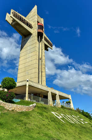 watchman: Watchman Cross in Ponce, Puerto Rico. It is a 100-foot-tall cross located atop Vigia Hill in Ponce, Puerto Rico Editorial