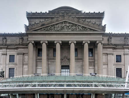 art museum: Brooklyn, New York - January 10, 2016: Brooklyn Museum in New York City. Founded in 1895 this Beaux-Arts building is the art museum holds the citys second largest art collection. Editorial