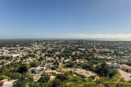 Aerial view of the city of Ponce, Puerto Rico. 版權商用圖片