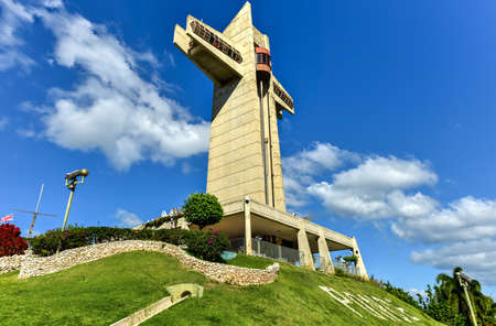 a watchman: Watchman Cross in Ponce, Puerto Rico. It is a 100-foot-tall cross located atop Vigia Hill in Ponce, Puerto Rico Editorial