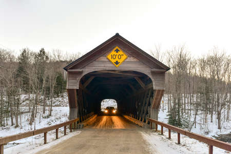 covered bridge: Upper Falls Covered Bridge in Downers, Vermont