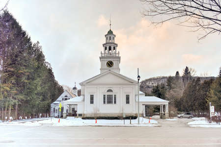 congregational: The First Congregational Church is an active Congregational church in Woodstock, Vermont. The original building was constructed in 1807 and was rebuilt in 1890.