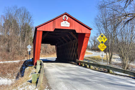 covered bridge: Cooley Covered Bridge in Pittsford, Vermont