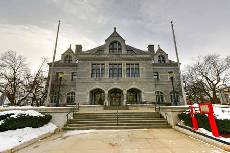 legislative: New Hampshire Legislative Office Building, Concord, New Hampshire, USA. Legislative Office Building, built in 1884 with Victorian style, was formerly post office of Concord.