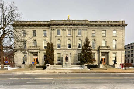 hampshire: New Hampshire State House, Concord, New Hampshire, USA. New Hampshire State House is the nations oldest state house, built in 1816 - 1819. Stock Photo
