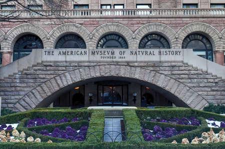 New York City - 31 januari 2016: American Museum of Natural History in Manhattan. De museumcollecties bevatten meer dan 32 miljoen exemplaren. Redactioneel